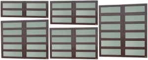 Basculante 2 Seções em Alumínio Corten c/ Vidro Mini Boreal - Brimak Elite