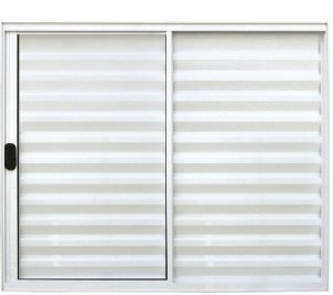 Janela Veneziana 3 Fls Sem Grade Alumínio Branco - SPJ Modular