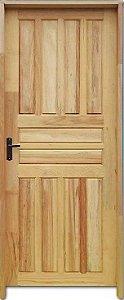 Porta Americana Mista Maciça c/ Batente de 11 cm Misto c/ Fechadura Tambor - Rick Esquadrias