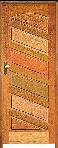 Porta Mexicana Diagonal R-20 Mista Maciça c/ Batente de 14 cm Misto c/ Fechadura Taco de Golf - Rick Esquadrias