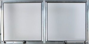 Janela Maxim-ar 2 Sec. Alumínio Brilhante - SPJ Modular
