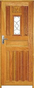 Porta Entrada Mista Maciça c/ Batente de 14 cm Misto c/ Fechadura Tambor - Rick Esquadrias