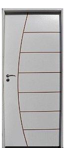 Porta Belissima HDF com primer montada Batente Eco com primer 11 cm Fechadura Externa Modena - UNIPORTAS