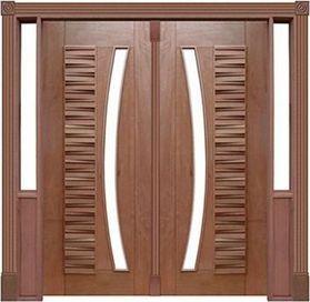 Porta Pivotante Madri 175 C/ 2 Folhas em Madeira Cedro Arana S/ Ferragem Batente 14 Cm - Casmavi