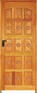Porta Torneada 15 Almofadas Mista Maciça c/ Batente de 11 cm Misto c/ Fechadura Tambor - Rick Esquadrias