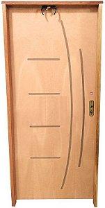 Porta Frisada Stander Dover c/ Batente de 11 cm Misto c/ Fechadura Taco de Golf - Rick Esquadrias