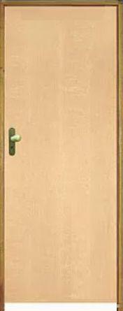 Porta Lisa Curupixá Comercial c/ Batente de 14 cm Misto c/ Fechadura Tambor - Rick Esquadrias