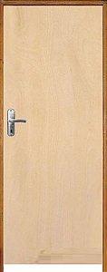 Porta Lisa Mista Comercial c/ Batente de 14 cm Misto c/ Fechadura Tambor - Rick Esquadrias