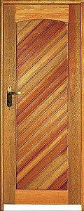 Porta Mexicana Diagonal Mista Maciça c/ Batente de 14 cm Misto c/ Fechadura Tambor - Rick Esquadrias