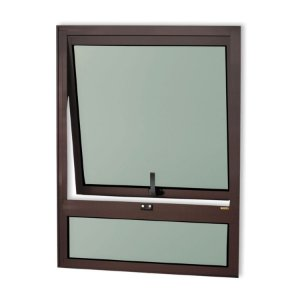 Maxim-Ar 1 Seção c/ Bandeira Fixa Inferior em Alumínio Corten c/ Vidro Mini Boreal - Brimak Confort