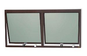 Maxim-Ar 2 Seções em Alumínio Corten c/ Vidro Mini Boreal - Brimak Plus
