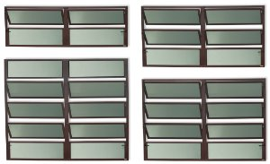 Basculante 2 Seções em Alumínio Corten c/ Vidro Mini Boreal - Brimak Plus