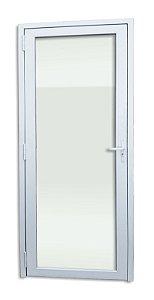 Porta de PVC Itec c/ 1 Vidro Liso Temperado de 5 mm - Brimak