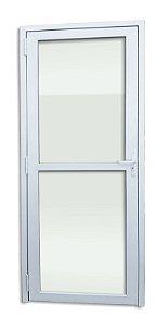 Porta de PVC Itec c/ 2 Vidros Lisos Temperados de 5 mm - Brimak