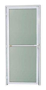 Porta Vidrão em Alumínio Branco c/ Vidro Mini Boreal - Brimak Super 25