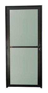 Porta Vidrão em Alumínio Preto c/ Vidro Mini Boreal - Brimak Super 25
