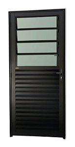 Porta Basculante em Alumínio Preto c/ Vidro Mini Boreal - Brimak Super 25