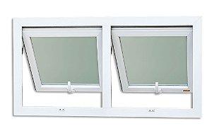 Maxim-Ar em PVC 2 Seções c/ Vidro Mini Boreal - Brimak Itec