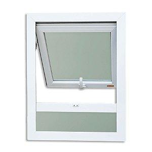 Maxim-Ar em PVC 1 Seção c/ Bandeira Fixa Inferior c/ Vidro Mini Boreal - Brimak Itec