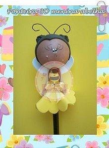 Ponteira 3D menina abelhinha