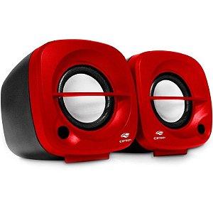 Caixa de Som 3W RMS C3Tech SP-303RD Vermelha