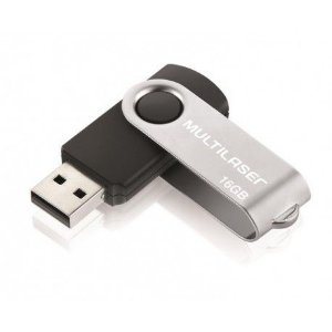 Pen Drive 16GB Twist Multilaser Preto