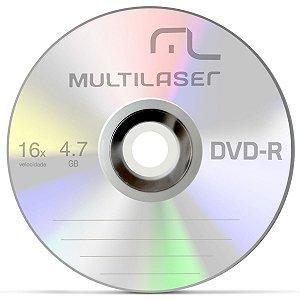 Mídia DVD-R 4.7Gb 16x Multilaser