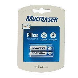 Pilha AAA Recarregável com 2 Multilaser