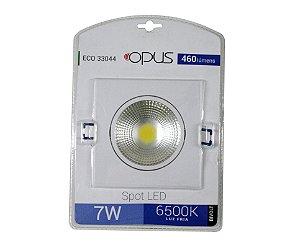 SPOT DE EMBUTIR DE LED QUADRADO 7W 6500K OPUS