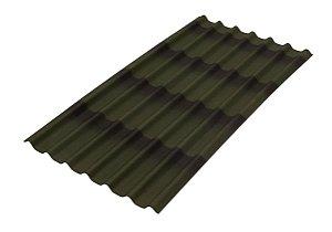 Telha Ecológica Stilo 3D Verde 200 cm x 95 cm