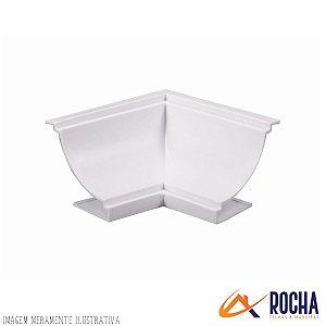 Acabamento Canto Interno em PVC - Branco Gelo