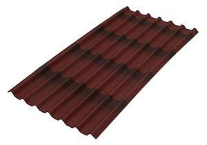 Telha Ecológica Stilo 3D Vermelha 200 cm x 95 cm