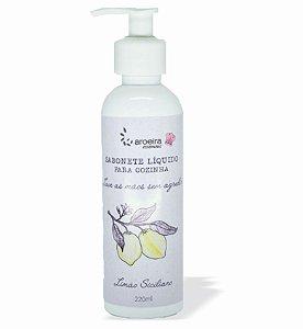 Sabonete Líquido Gourmet Aroeira Essencias 220ml - Válvula Pump - Limão Siciliano