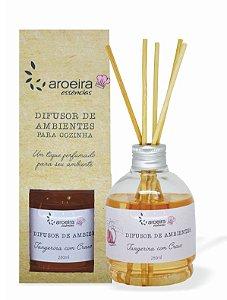 Difusor Perfumado de Ambientes Gourmet Aroeira Essencias 280ml - Varetas - Tangerina Cravo