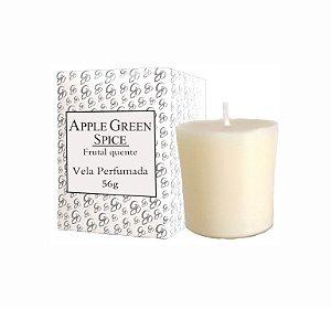 Vela Aromática de Ambientes Greenone 56g Branca - Apple Green Spice
