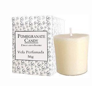 Vela Aromática de Ambientes Greenone 56g Branca - Pomegranate Candy
