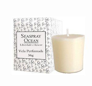 Vela Aromática de Ambientes Greenone 56g Branca - Seaspray Ocean