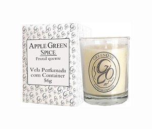 Vela Aromática de Ambientes Greenone 56g Branca c/ copo - Apple Green Spice