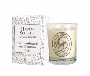 Vela Aromática de Ambientes Greenone 56g Branca c/ copo - Haven Sofistic