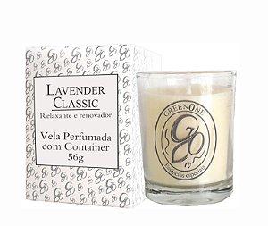 Vela Aromática de Ambientes Greenone 56g Branca c/ copo - Lavender Classic