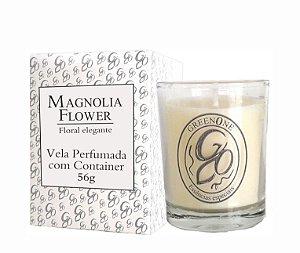 Vela Aromática de Ambientes Greenone 56g Branca c/ copo - Magnolia Flower