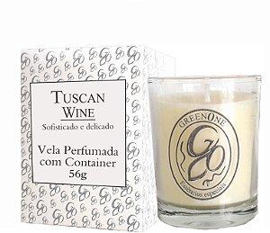 Vela Aromática de Ambientes Greenone 56g Branca c/ copo - Tuscan Wine