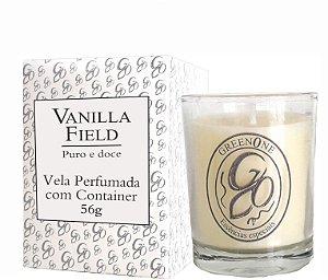 Vela Aromática de Ambientes Greenone 56g Branca c/ copo - Vanilla Field