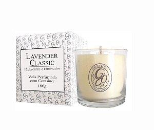 Vela Aromática de Ambientes Greenone 180g Branca c/ copo - Lavender Classic