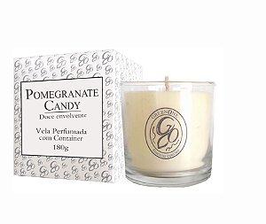 Vela Aromática de Ambientes Greenone 180g Branca c/ copo - Pomegranate Candy