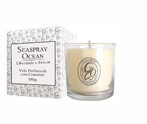 Vela Aromática de Ambientes Greenone 180g Branca c/ copo - Seaspray Ocean