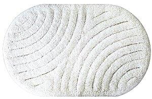 Tapete Antiderrapante Aroeira Floripa Branco 40x60cm