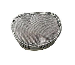 Porta Jóias Oval prata diamante