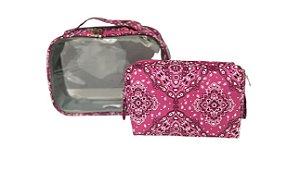Kit quadradinha + transparente P Bandana rosa