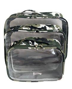 Kit Daslu camuflado verde
